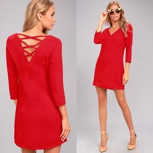 NWT  B.B. Dakota Luther Dress in Salsa Red
